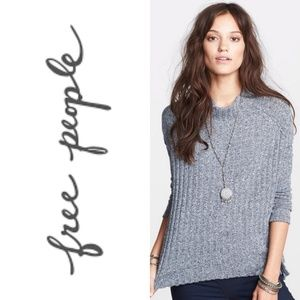 Free People Rested and Ready Mock Neck Knit, XS
